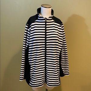 Ralph Lauren Active Jacket Black White Stripe 2X